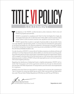 Title VI policy Statement image